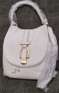GILI white genuine leather shoulder bag