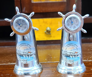 Vintage San Francisco fisherman's wharf magnetic compass salt & pepper shakers