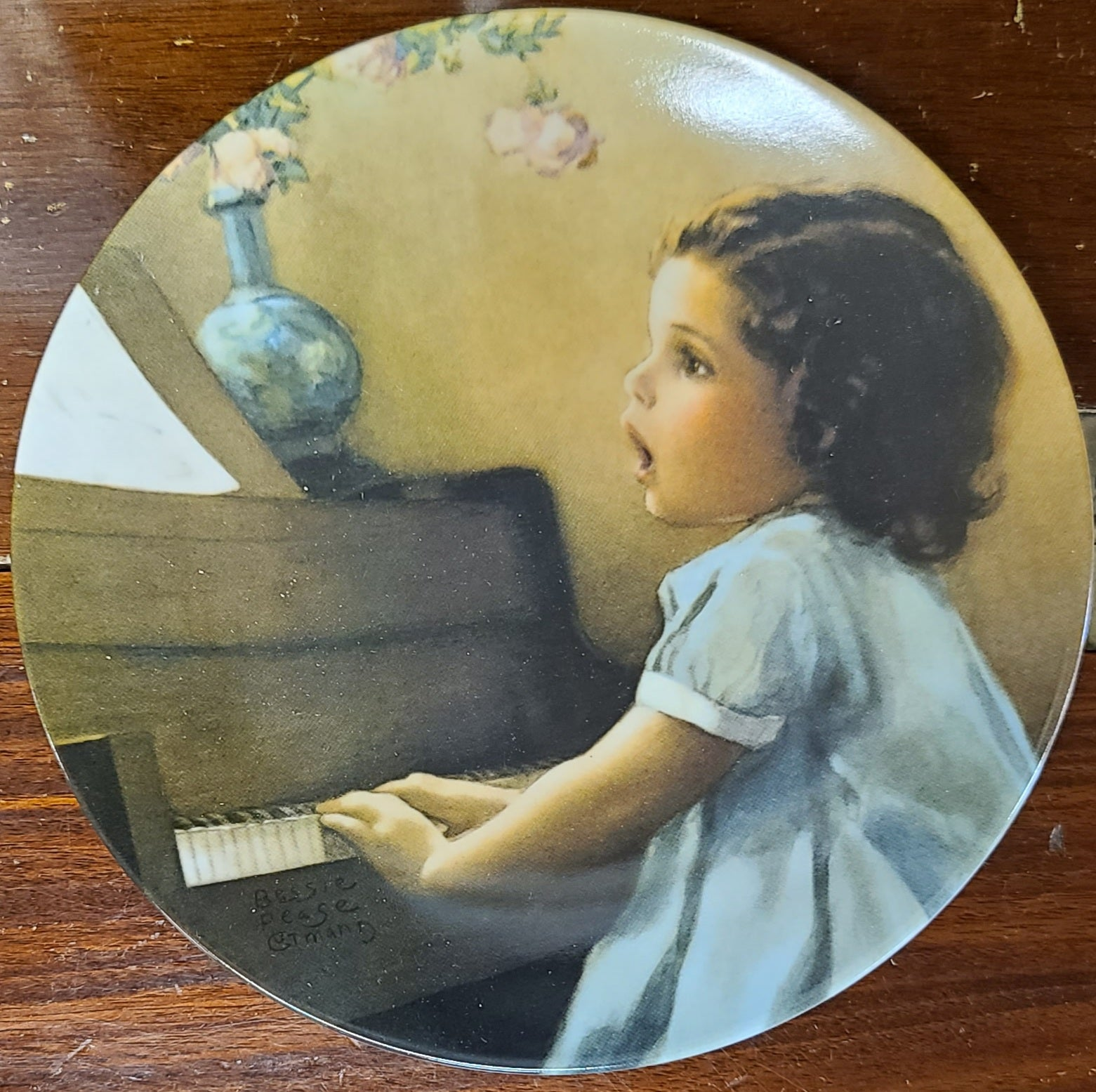 "Bessie Pease Gutmann Magical Moments Series Decorative Plate ""Harmony"""