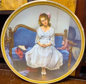 Knowles Rockwell's Rediscovered Women Decorative Plate Collection, Waiting at the Dance by Norman Rockwell