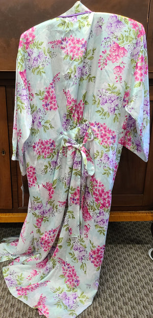 Macy's Morgan Taylor Intimates polyester Botanical Boutique bath robe small/ medium