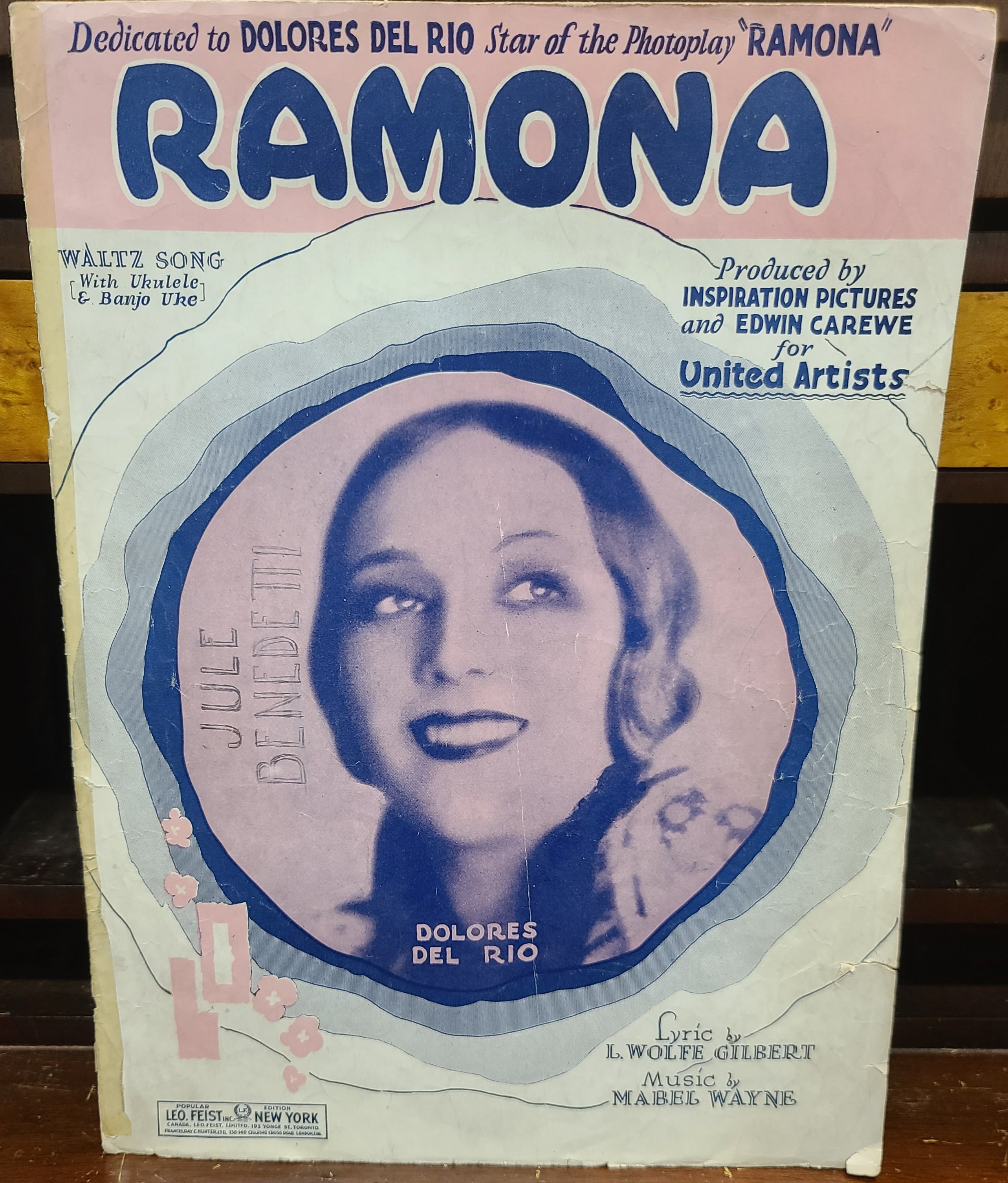 Vintage sheet music Ramona Walz Song