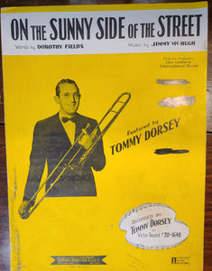 Vintage sheet music On the Sunny Side of the Street w Tommy Dorsey
