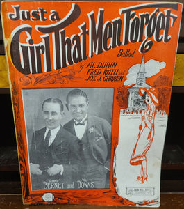Vintage sheet music Just a Girl That Men Forget