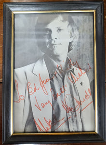 Vintage Malcolm McDowell autographed photo