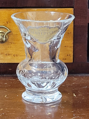 US zone post-war German leaded crystal toothpick holder