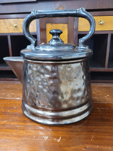 Vintage McCoy metalic glazed tea kettle cookie jar
