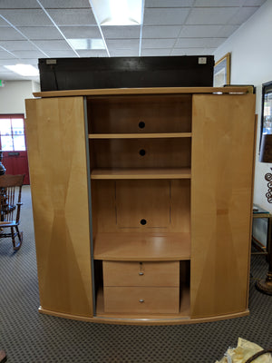 Italian-made Armoire Entertainment Center with Bookshelves