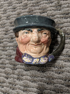 "Royal Doulton Character Jug Mini ""Tony Weller"" Vintage"