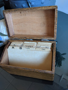 Wooden Recipe box, small