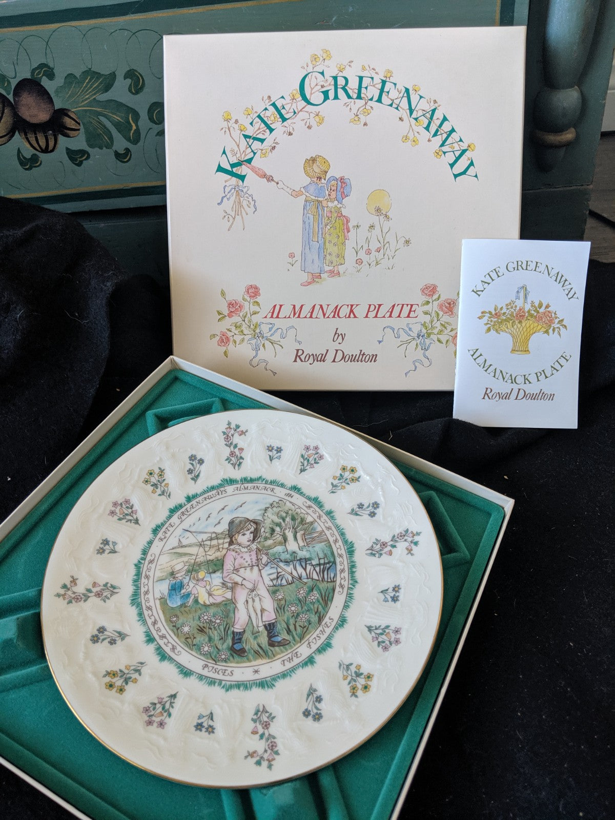 Kate Greenaway Almanack Plate by Royal Doulton -Pisces