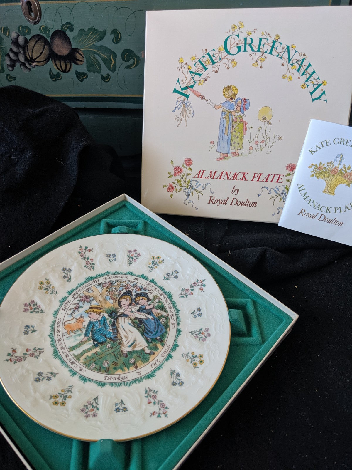 Kate Greenaway Almanack Plate by Royal Doulton -Taurus
