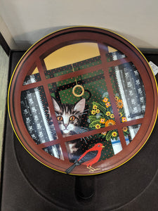 "Anna Perenna ""Walter's Window"" decorative plate,"