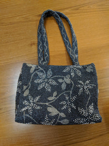 AMA Italy beaded handbag in silver and pewter tones