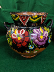 Vintage Hand-made, Hand-painted Mexican planter