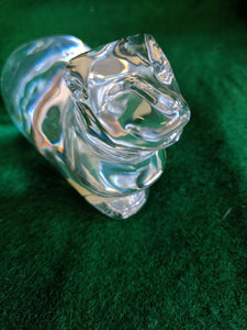 Atlantis glass tiger cat figurine, Portugal