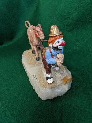 Ron Lee sculpture, Clown with Donkey, 1986