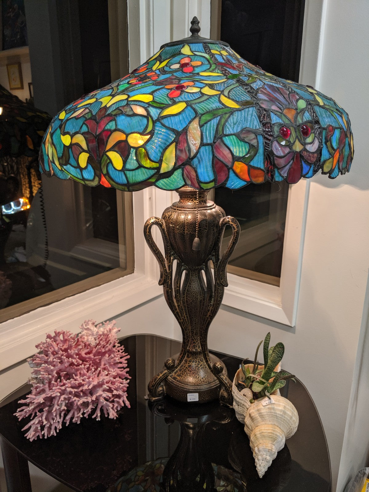 Vintage Tiffany Repro Table Lamp