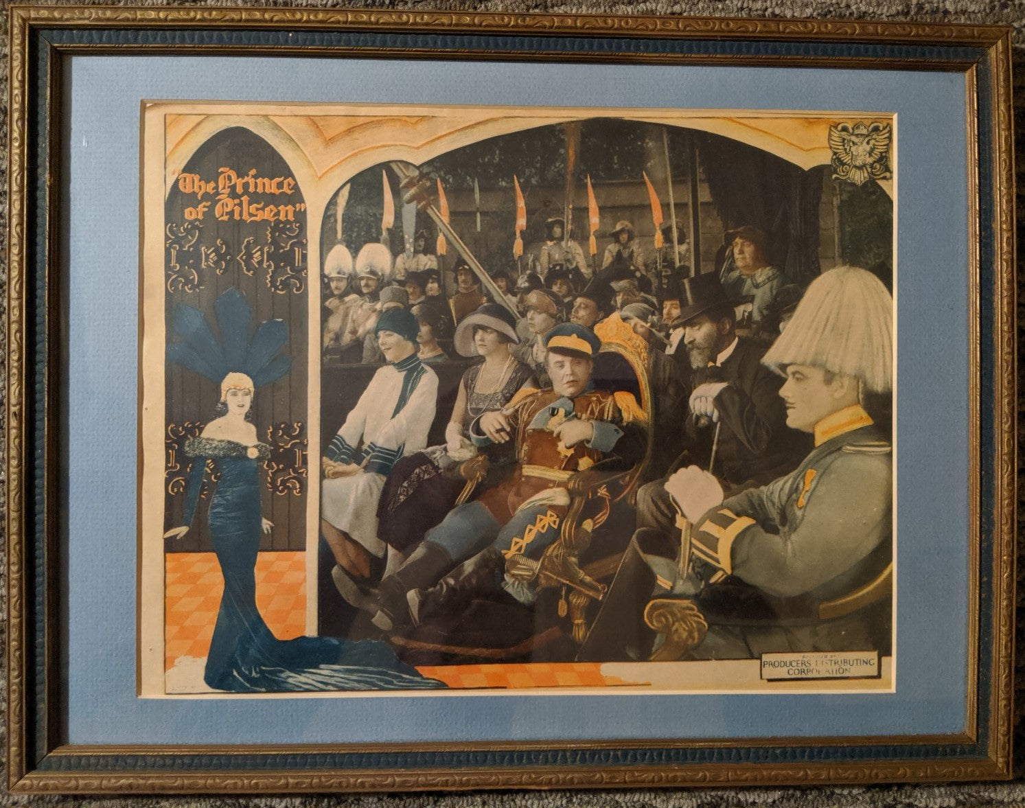 "RARE 1926 ""The Prince of Pilsen"" original theater poster in frame"