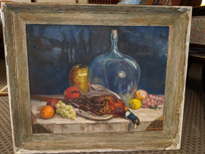 Arthur G Anderson original painting on canvas, 1956, signed