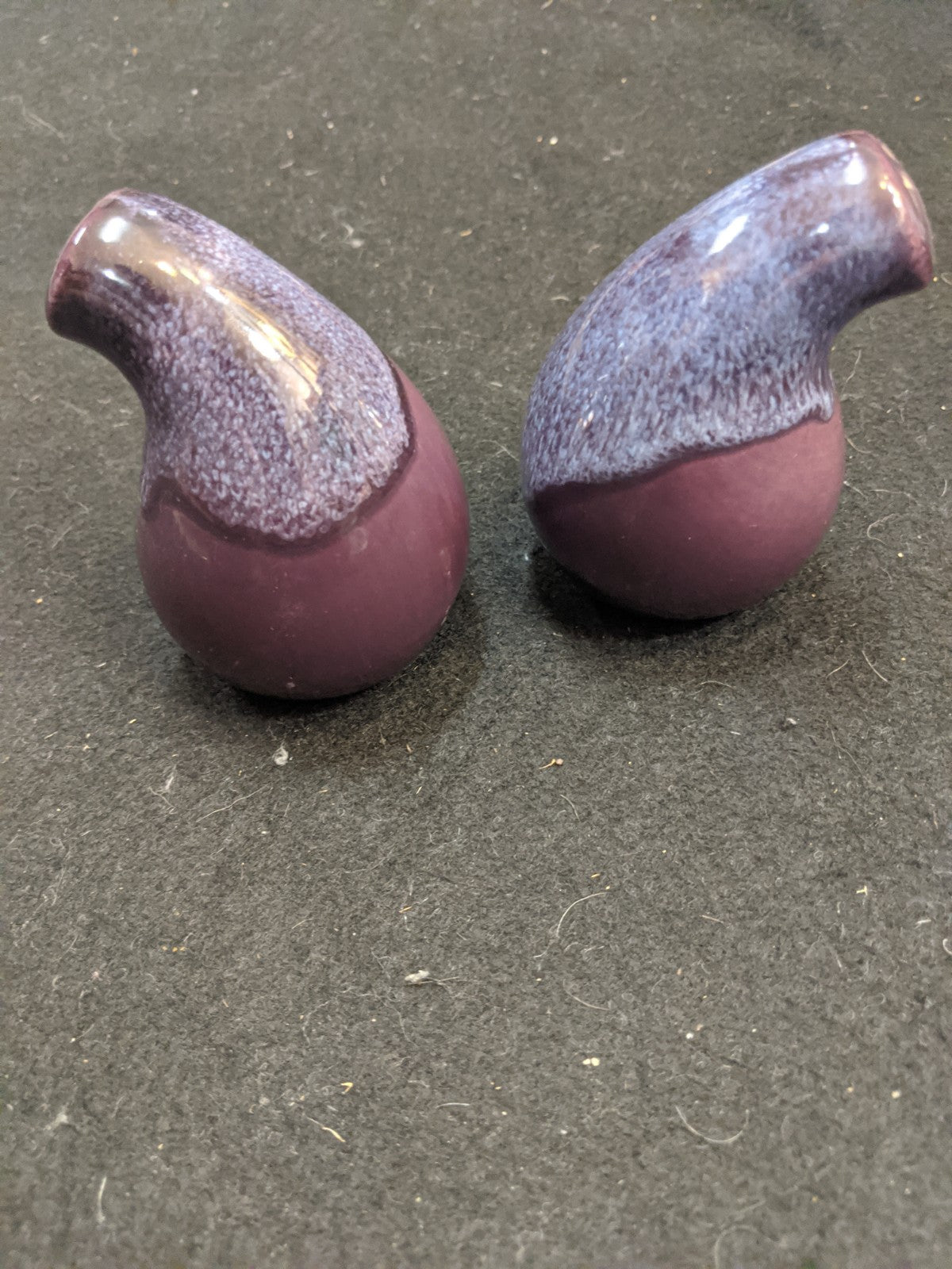 Vintage Purple salt & pepper shakers