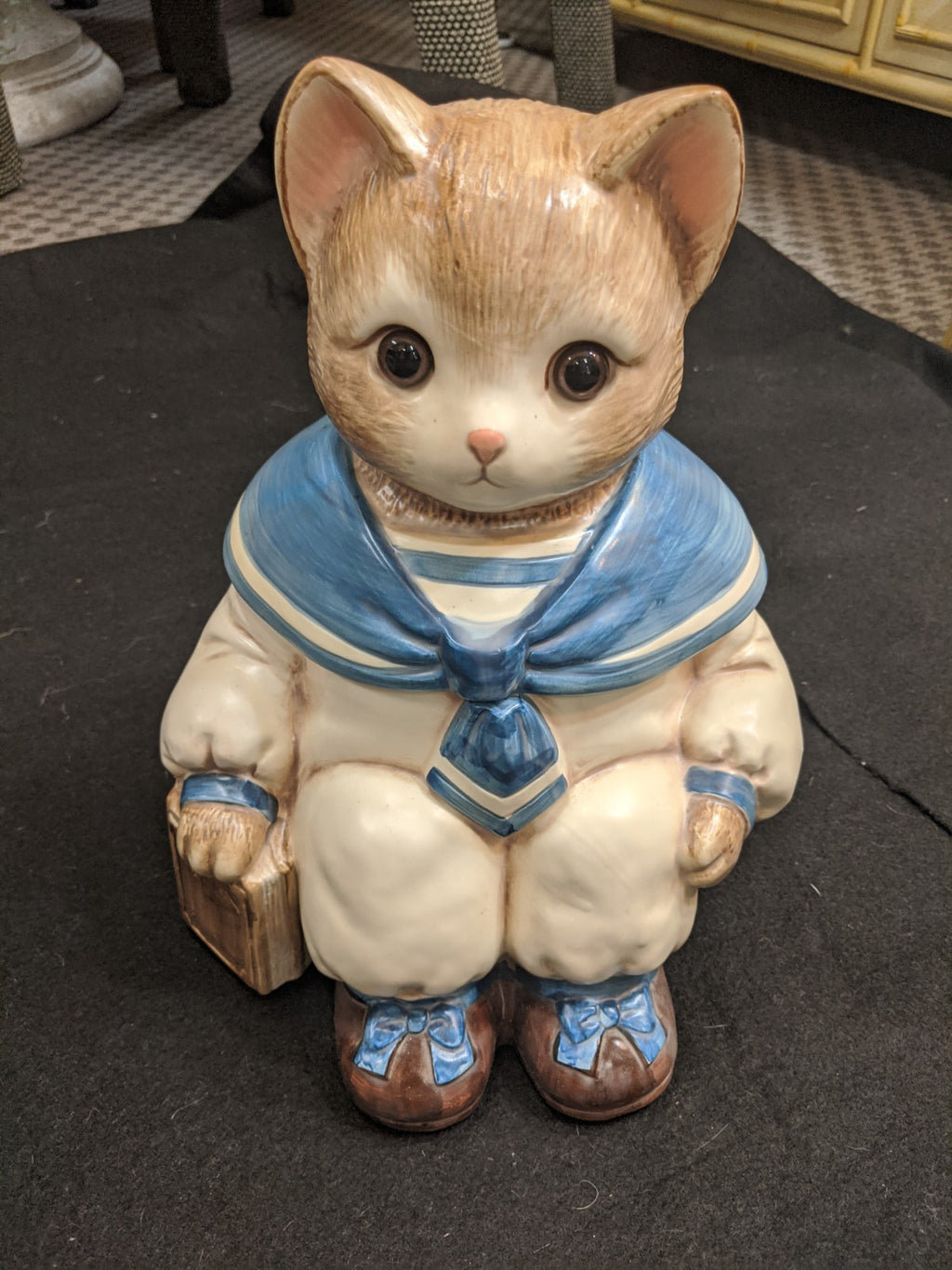 Vintage Baker, Hart & Stuart No. 3485 Sailor Kitten Cookie Jar