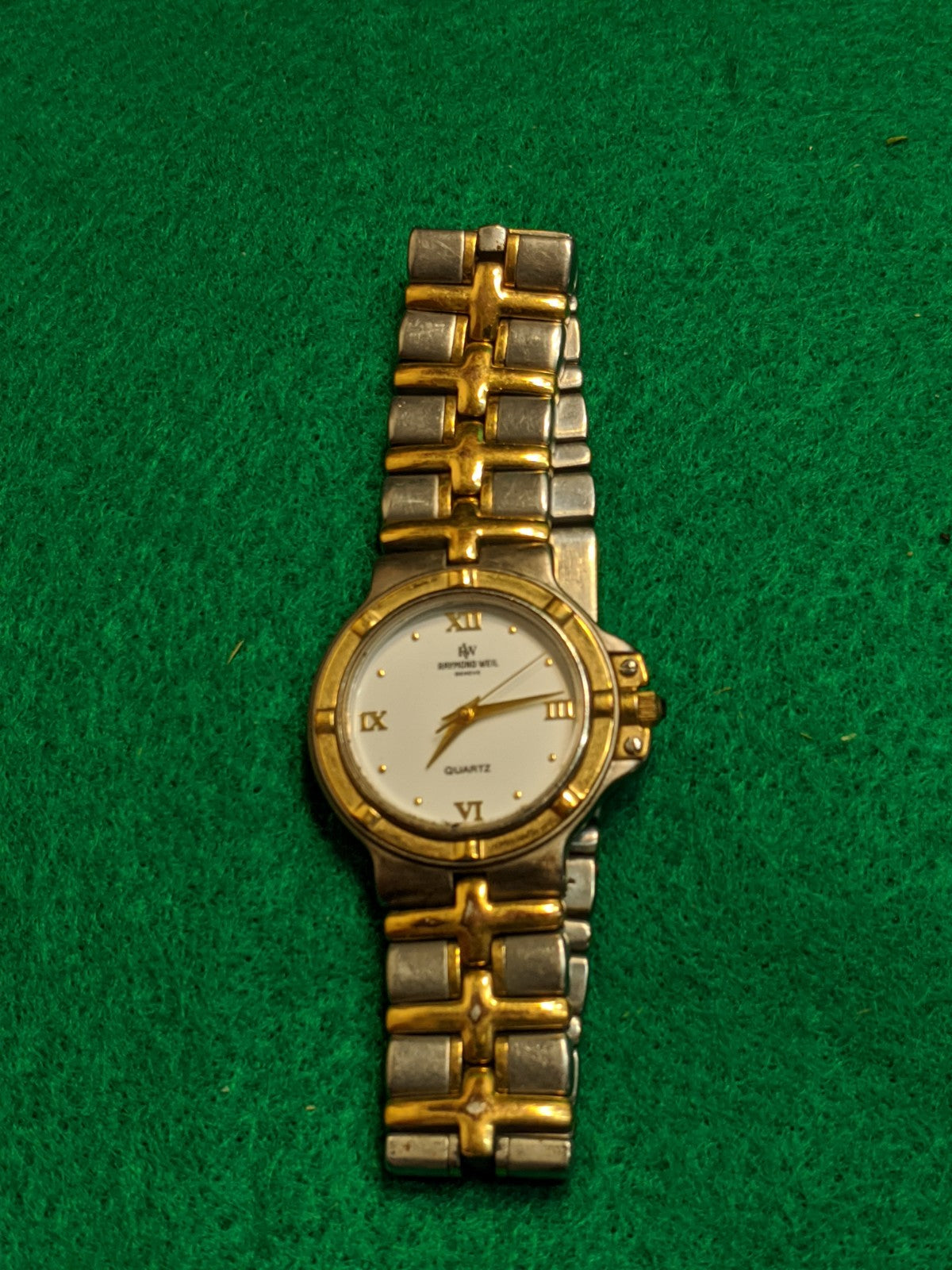 Raymond Weil 18k gold plate ladies watch