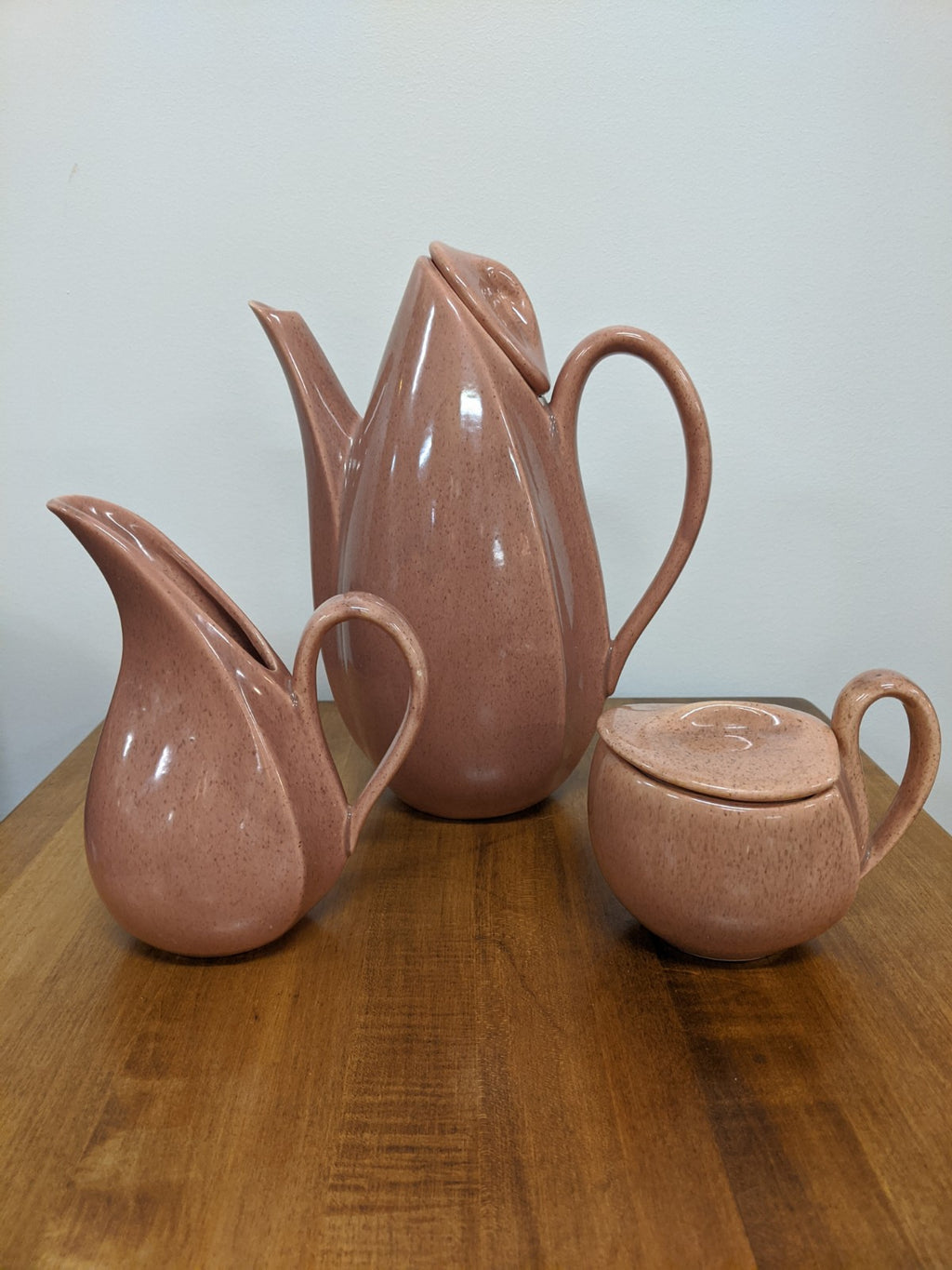 Vintage Chocolate Glaze Tea/Coffee set, cir 1940