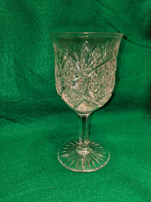 Crystal pitcher and 6 goblets