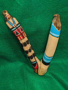 Hopi Indian Carved Wooden Salako Dancer Kachina, artist signed