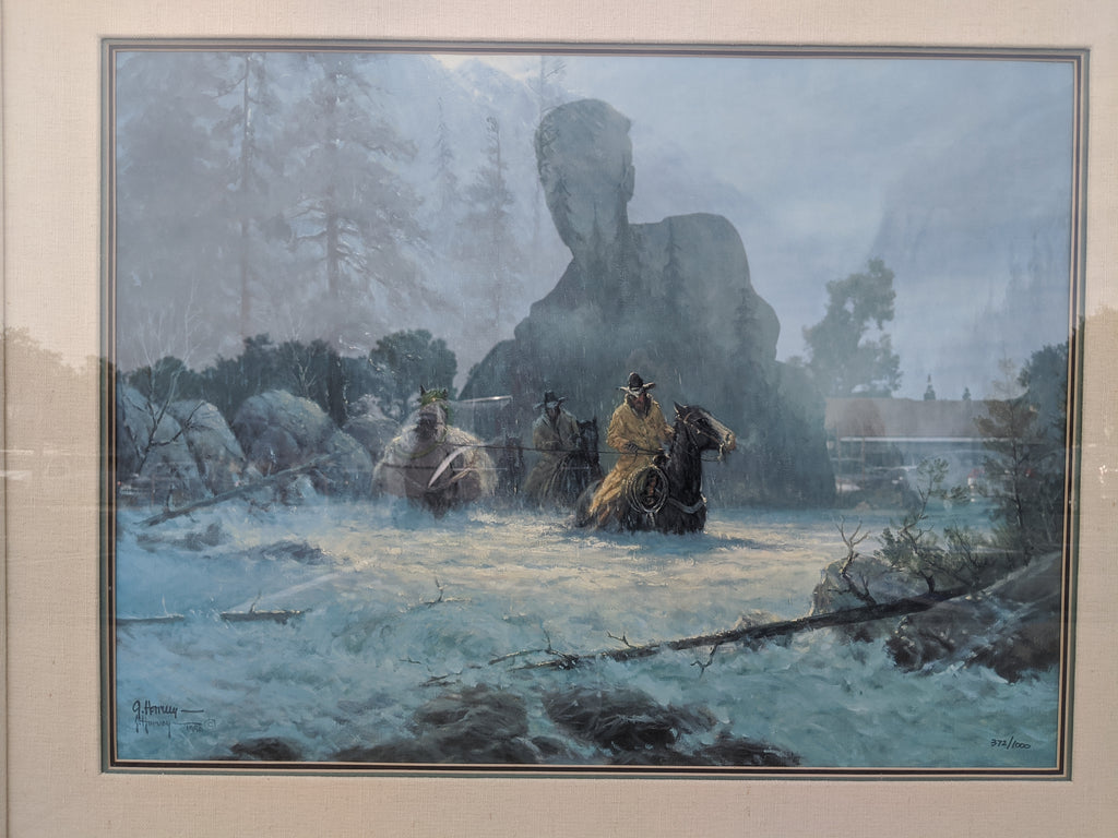 "Limited print, artist signed G. Harvey ""Boot-top Deep"", 372/1000"