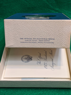 1973 Inaugural Medal, sterling silver proof edition, Franklin Mint