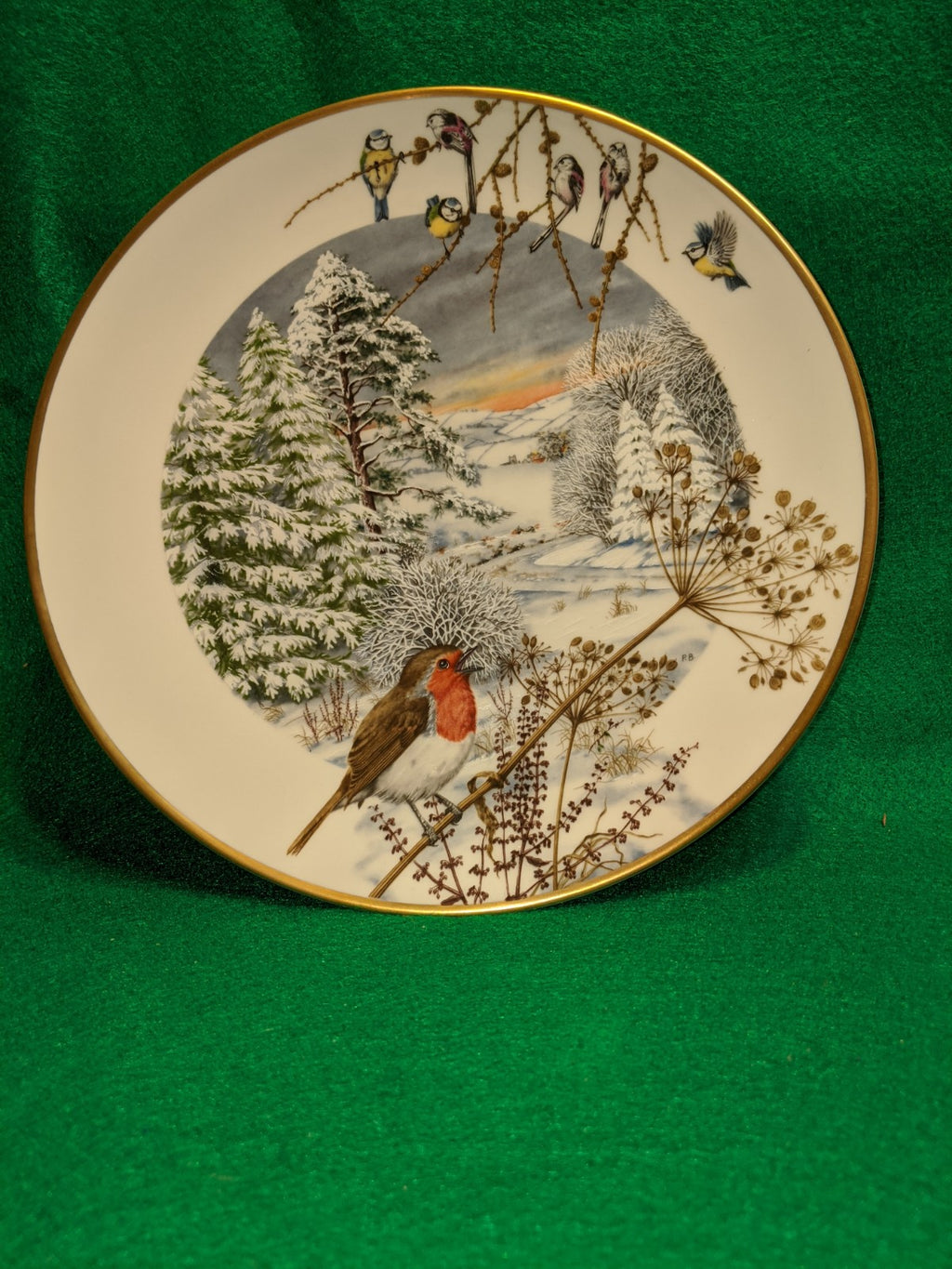"Pete Banett Limited Edition ""A Country Lane In December"" collector plate"