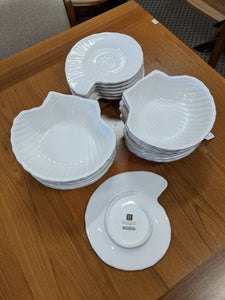 Roscher & Co. Nautilus Collection salad plates and bowls