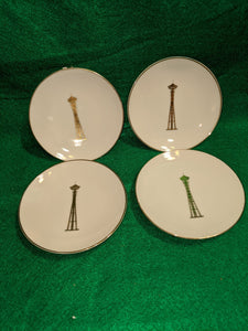 1962 World's Fair commemorative ceramic wall plates, set of 4