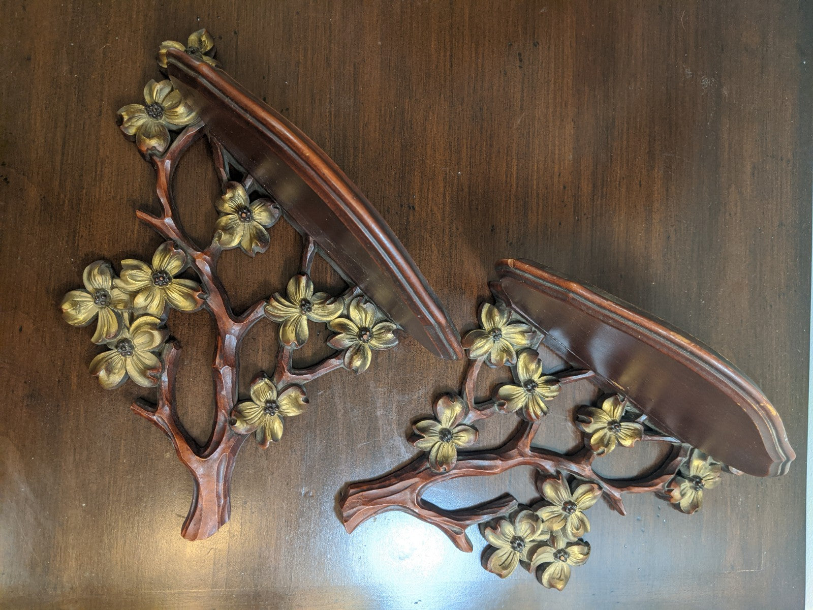 Vintage Cherry Blossom Wall Sconces