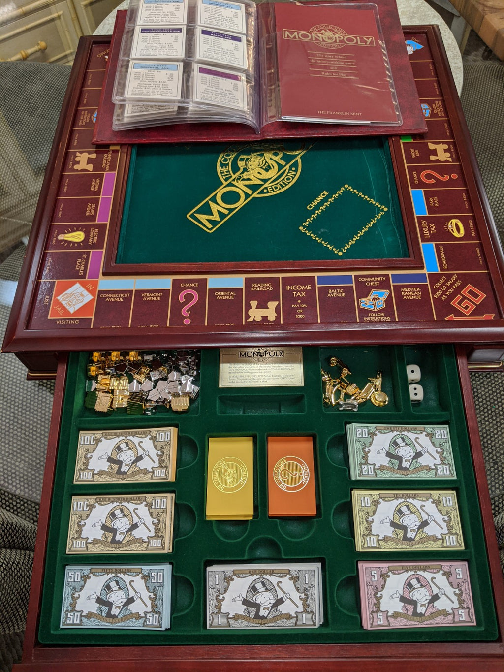 Franklin Mint 1991 Collector's Edition Monopoly Game set