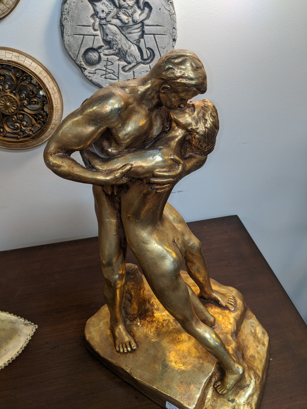 Ray Lowery 1970 Chalkware Statuette of Lovers