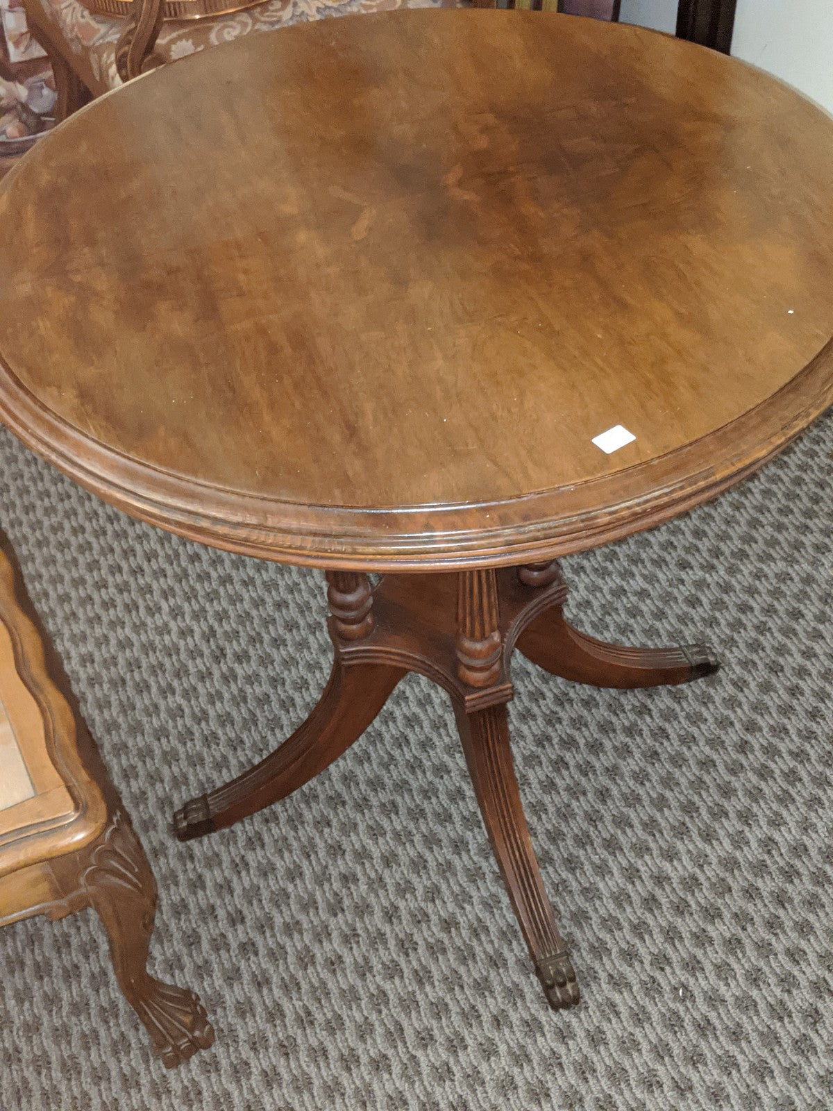 Vintage 28 inch round side table