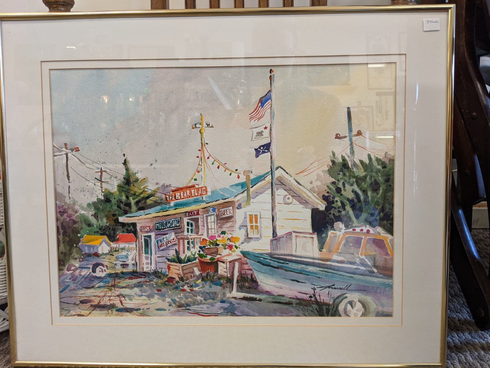 Original California Watercolor by Cornwall