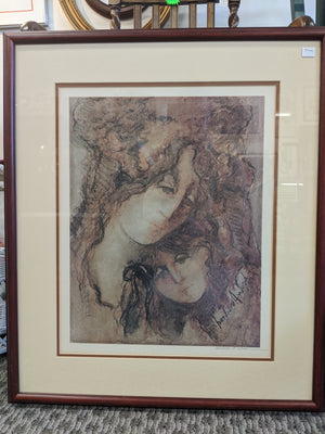 Artist Barbara A. Wood signed print