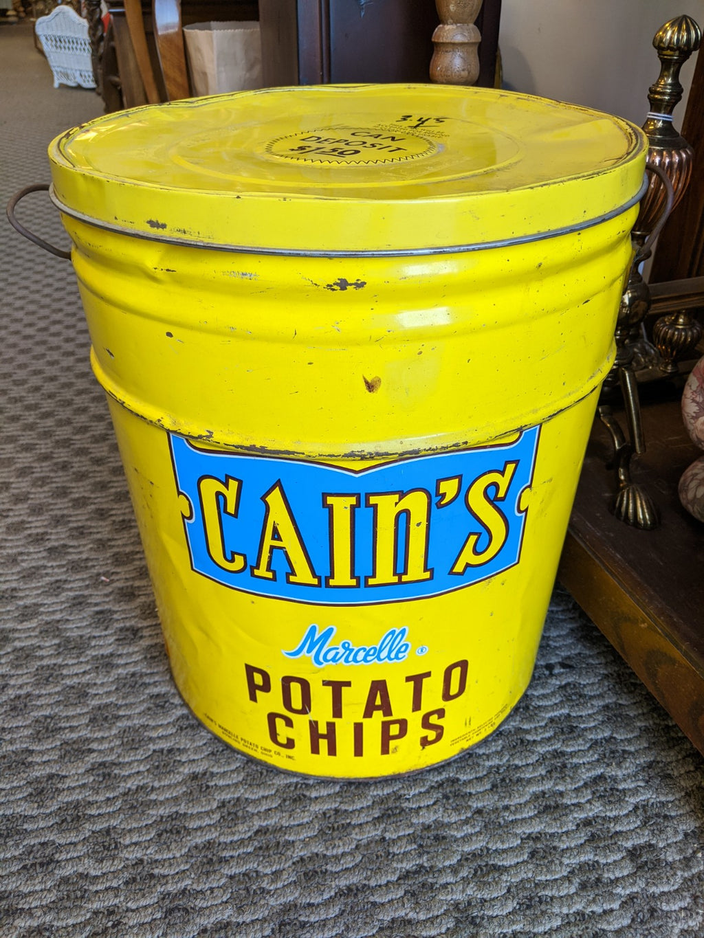Vintage Cain's Marcelle Potato Chips tin