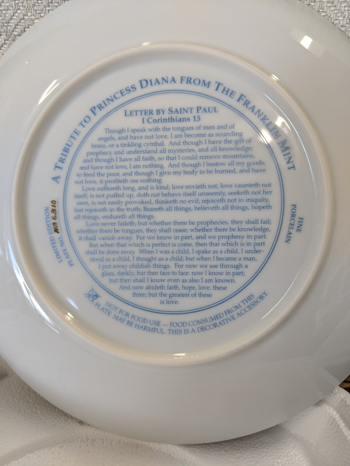 Franklin Mint Diana, Princess of Wales heirloom decorative plate #NA6310