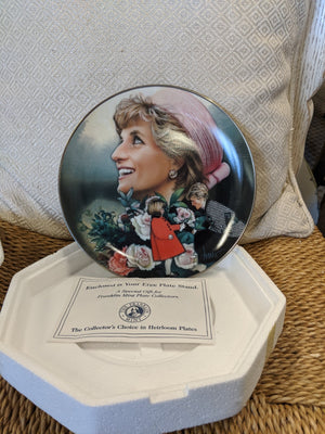 Franklin Mint Diana, Princess of Wales heirloom decorative plate #HA6642