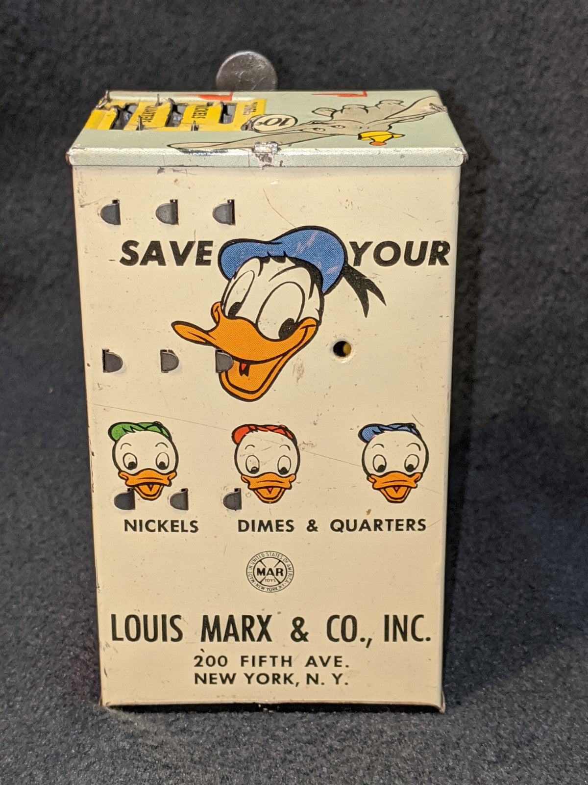 Louis Marx & Co Vintage Donald Duck Savings Bank
