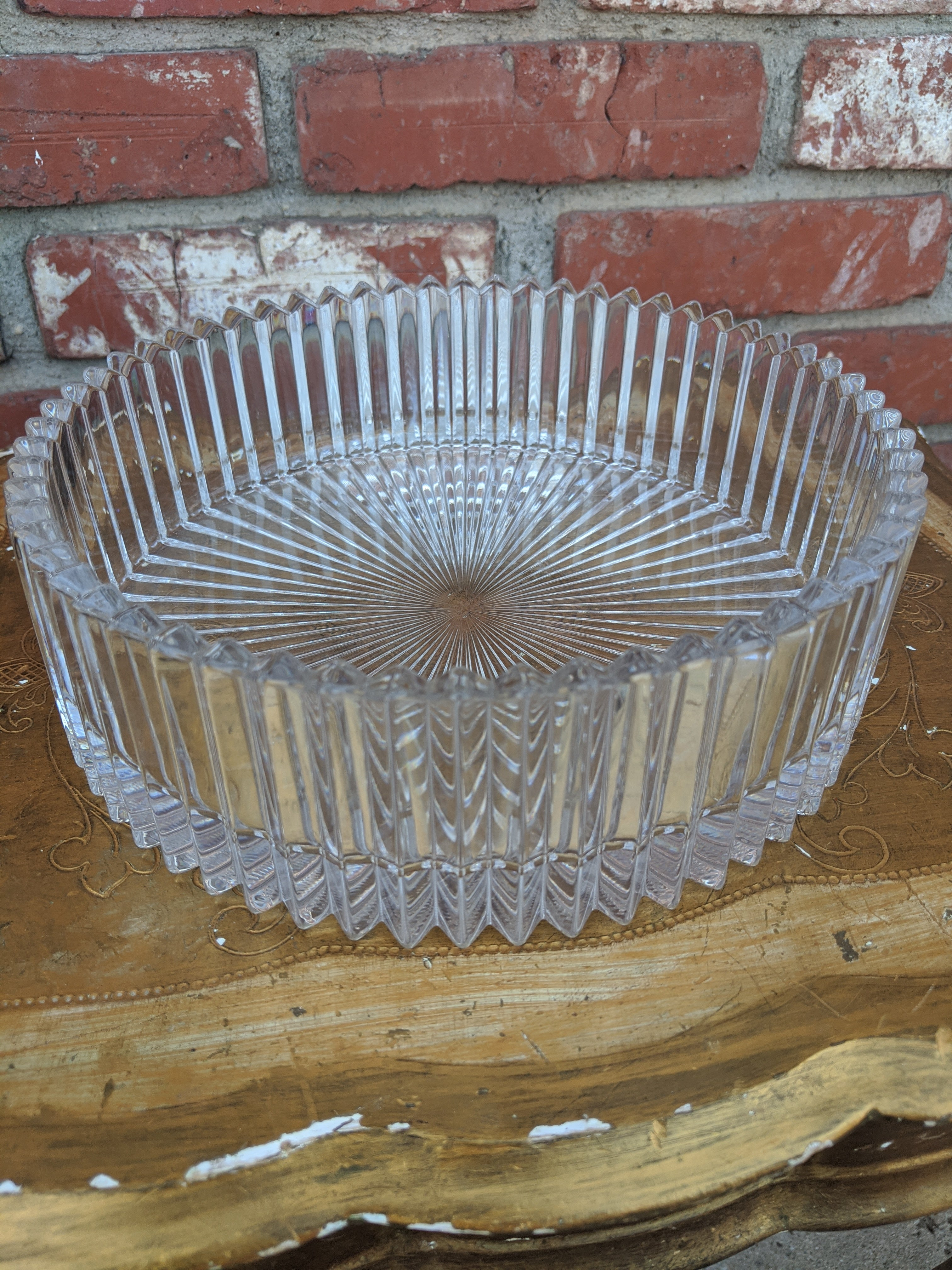 "Leaded Crystal 8"" candy dish"