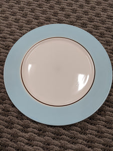 Baby Blue Gibson Dinner Plates, set of 4