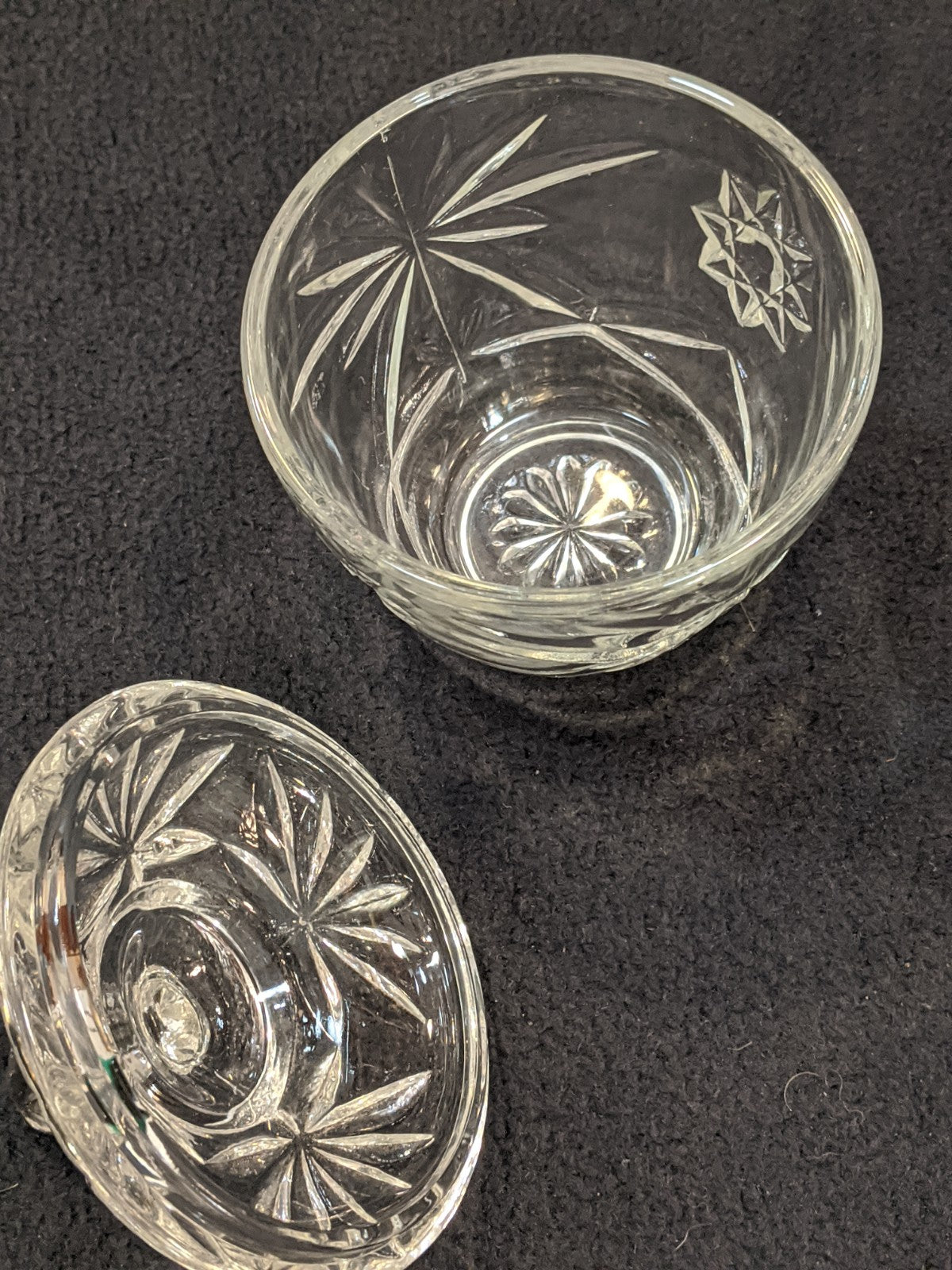 Small Vintage Glass Candy Dish