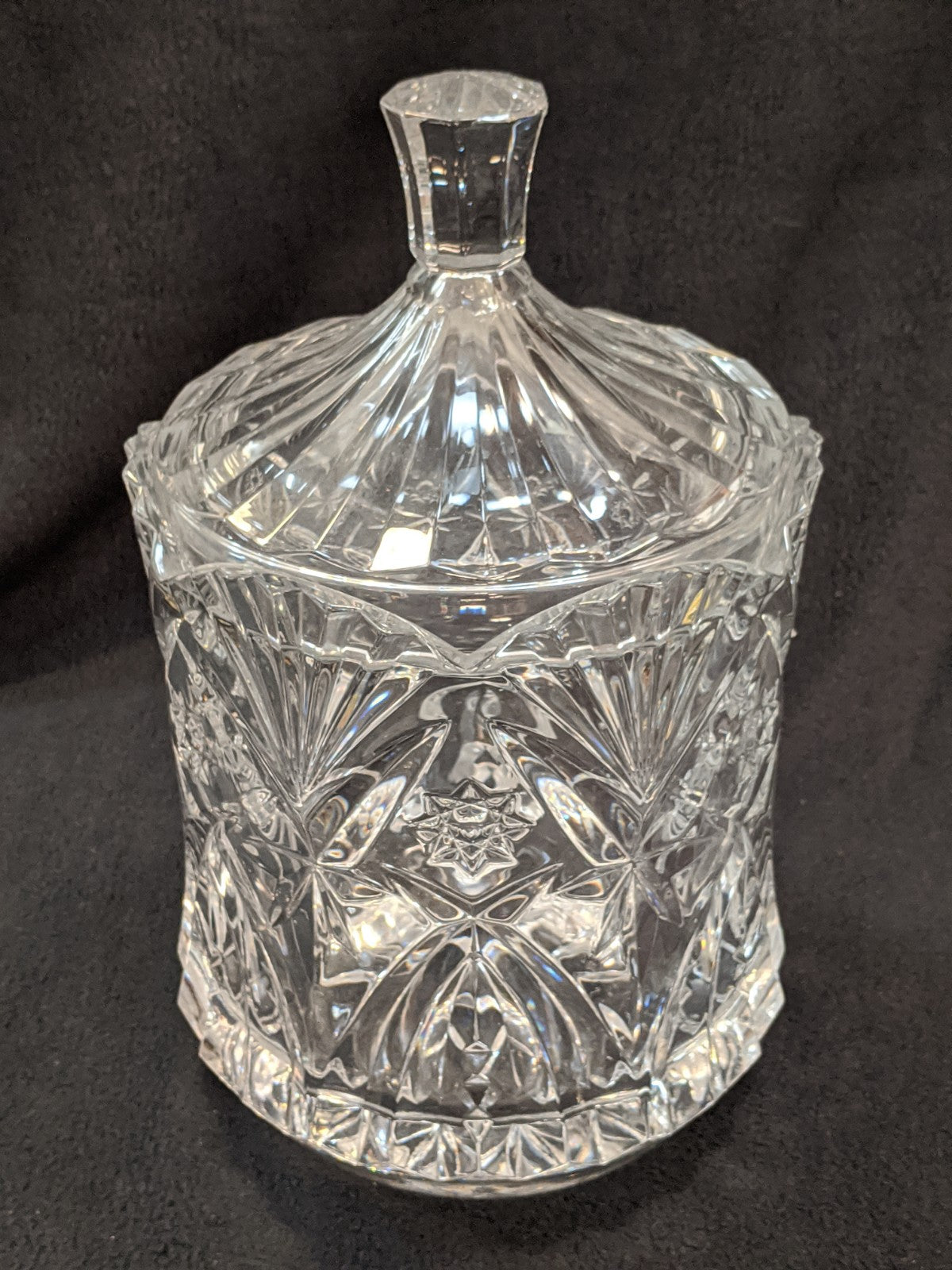 Large Crystal Glass Candy Jar