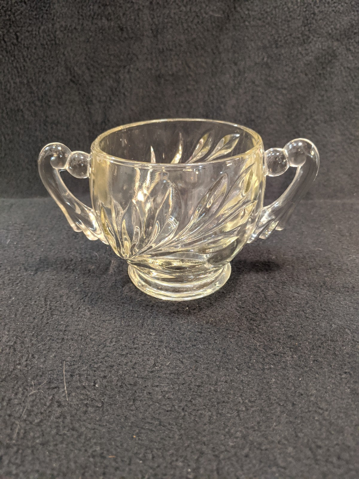 Small, Vintage, Two-Handled sugar dish